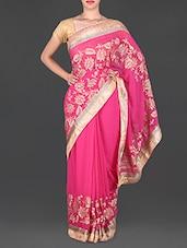 Heavy Embroidered Pallu Pure Chiffon Saree - Utsav