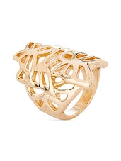 Gold Crystals & Stainless Steel Rings - Voylla