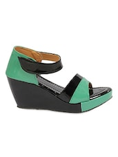 Colour Block Velcro Closure Wedges - Lucky Feet