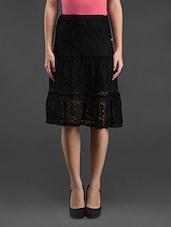 Black Lace Skirt - Feyona