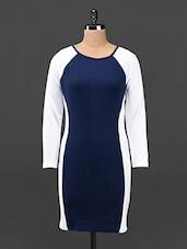 Full Sleeve Color Block Bodycon Dress - Butterfly Wears