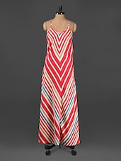 Cami Neck Stripped Maxi Dress - CINDRELLA