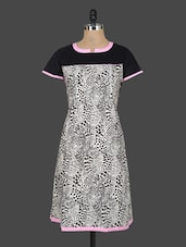 Printed Short Sleeves Cotton Kurta - Indibelle