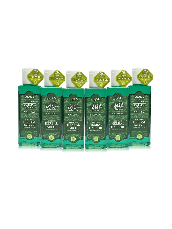 Khadi Mind-Fresh Herbal Hair Oil [ Pack Of 6 ] 100 Ml - By