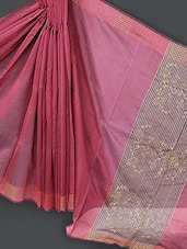 Red Embroidered Art Silk Saree - Prabha Creations