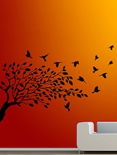 Tree And Flying Bird Wall Decal - By