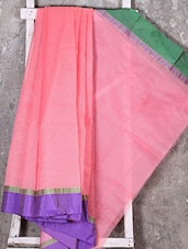 Ganga Jamuna Border Peach Kota Saree - Shiva Saree
