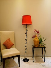 ZIG ZAG LEAFY FLOOR LAMP WITH BUG SHADE -  online shopping for Floor Lamps