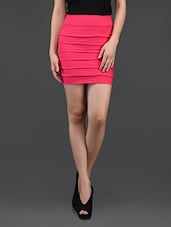 Pink Self Striped Pencil Skirt Cum Tube Top - N-Gal