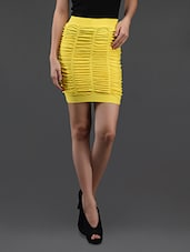 Yellow Gathered Pencil Skirt Cum Tube Top - N-Gal