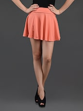 Pink Flared Cotton Mini Skirt - N-Gal