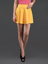 Yellow Flared Cotton Mini Skirt - N-Gal