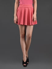 Polka Dot Printed Flared Mini Skirt - N-Gal