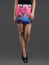Butterfly Printed Pencil Skirt Cum Tube Top - N-Gal
