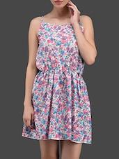 Floral Print Elastic Waist Strappy Dress - N-Gal