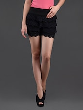 Black Lacy Divided Skirt - N-Gal