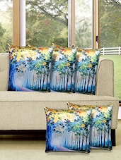 Set Of 5 Digital Printed Cushion Cover - By