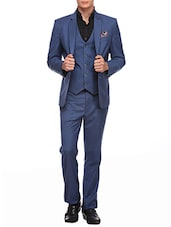 Blue Color, Terry Rayon 3- Piece Suit -  online shopping for Suits