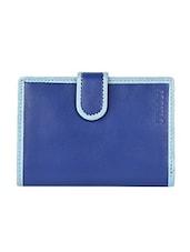 Turquoise Border Blue Wallet - D'HIDES