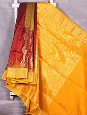 Yellow Pallu Faux Kanjivaram Saree - Creation