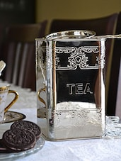 Silver Plated Brass Tea Container - By