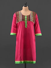 Long Sleeves Long Cotton Kurta - KAJJALI