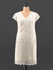 Short Sleeve Cotton Lace Kurta - KAJJALI