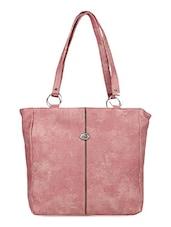 Light Pink Leatherette Handbag - Bags Craze