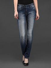 Blue Denim Slim Fit Jeans - SPECIES