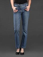 Blue Denim Straight Fit Jeans - SPECIES