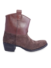 Brown Boots With Zipper - Beirut Shoes