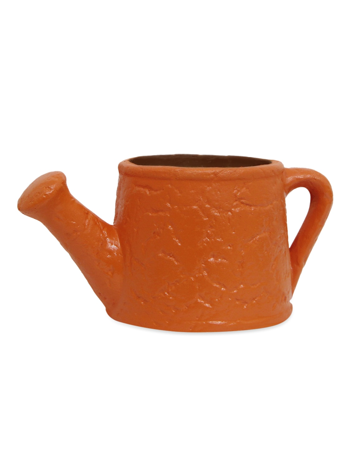 Brown Textured Watering Can Planter - Gifts By Meeta
