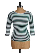 Green And White Striped Top - Alibi