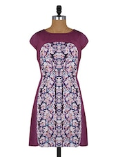 Floral Print Round Neck Short Sleeves Dress - Amari West