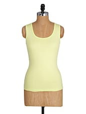 Sleeveless Round Neck Cotton Lycra Top - Amari West
