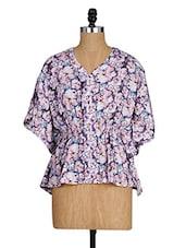 Floral Print Kimono Sleeves Top - Amari West