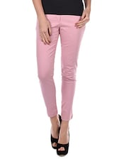 Zipper Closure Slim Fit Trouser - Amari West