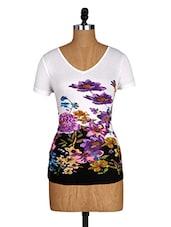 Floral Print Short Sleeves Tee - Amari West