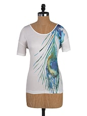 Plume Printed Round Neck Tee - Amari West