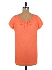 Orange Short-sleeved Casual Top - By