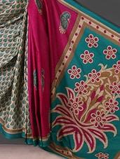 Blue Printed Printed Cotton Saree - Kamal Sarees