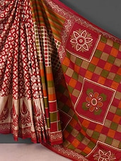 Pink Geometric Printed Cotton Saree - Kamal Sarees