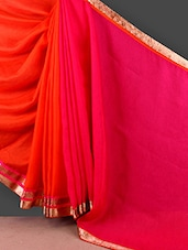 Half & Half Gota Bordered Saree - FABIONA