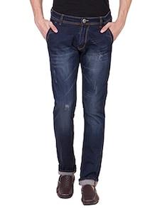 dark blue cotton lycra jeans