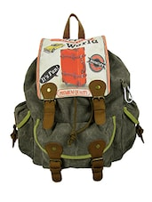 stone grey cotton canvas backpack -  online shopping for backpacks
