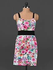 Floral Print Camisole Strap Neck Dress - Femenino