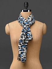 Animal Print Polyester Stole - By