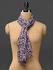 Floral Printed Poly-chiffon Stole - Trend Arrest