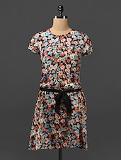 Floral Print Poly-crepe Dress - By