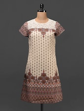 Lace Yoke Short Sleeve Georgette Kurta - MOTIF